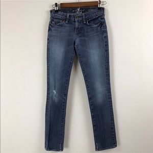 Seven For All Mankind Roxanne Distressed Jeans 24